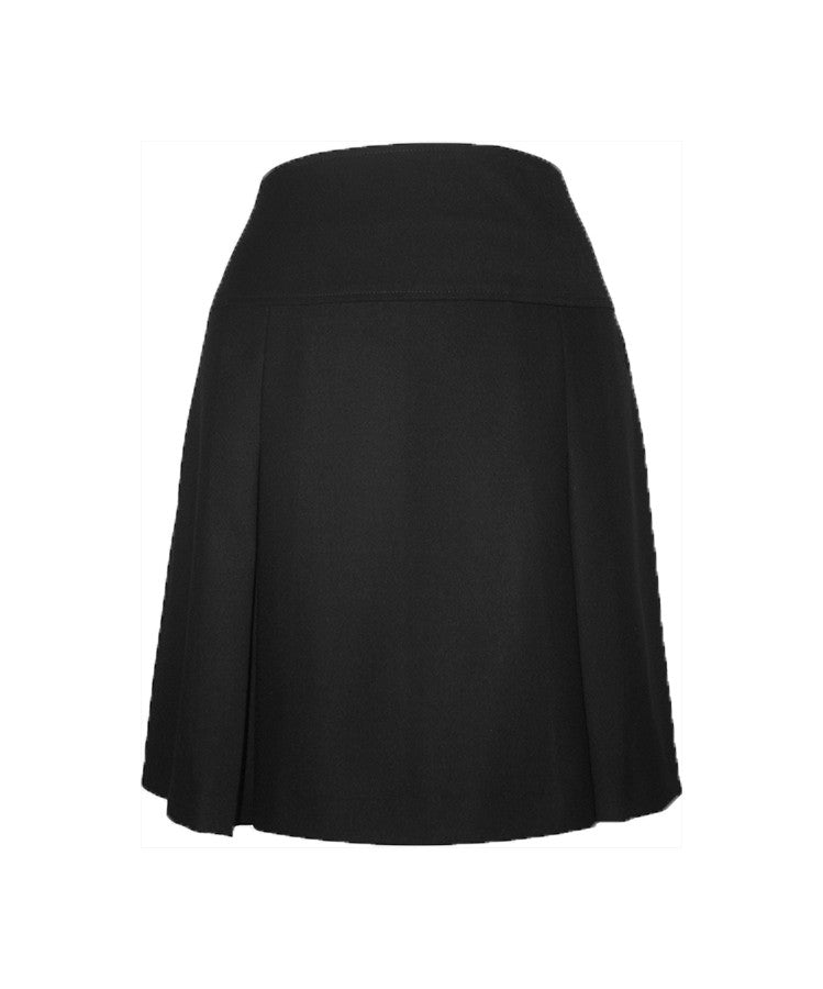 BLACK REGULAR BACK TENNIS SKIRT