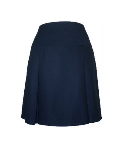 NAVY ADJUSTABLE WAIST TENNIS SKORT