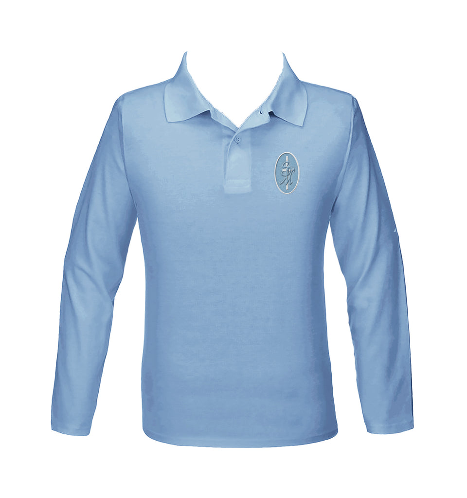 ST. MARY'S GOLF SHIRT, UNISEX, LONG SLEEVE, YOUTH