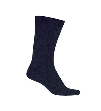 NAVY ANKLE SOCKS, YOUTH