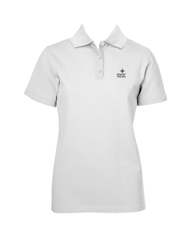 STAR OF THE SEA GOLF SHIRT, GIRLS, SHORT SLEEVE, YOUTH