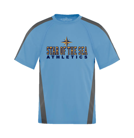 STAR OF THE SEA GYM T-SHIRT, WICKING, YOUTH