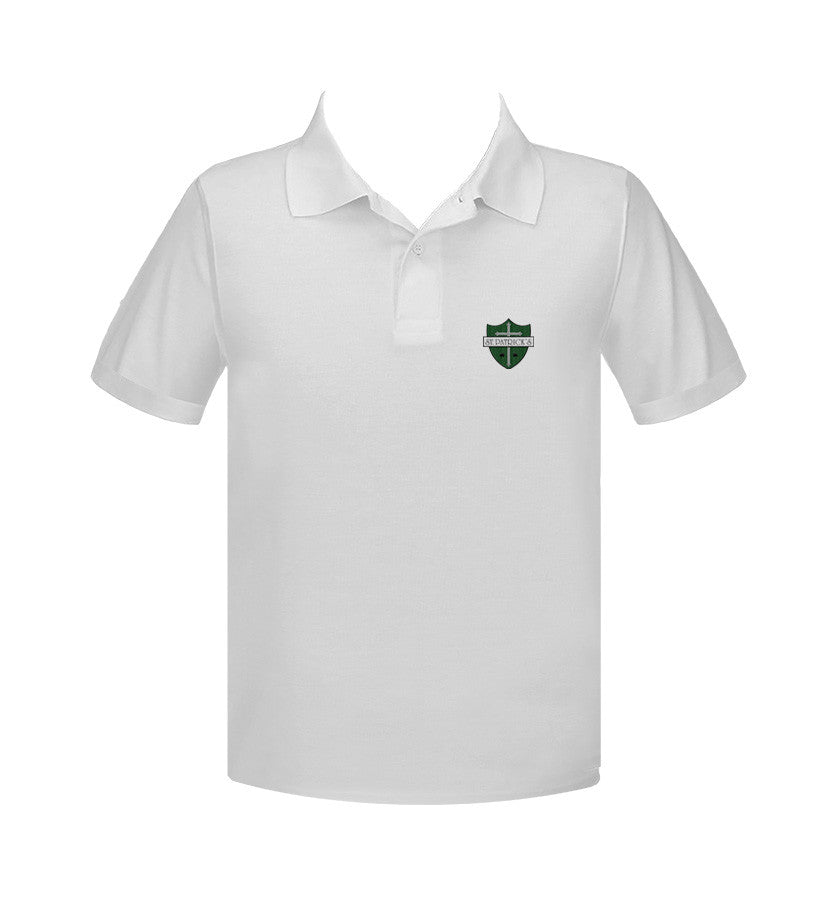ST. PATRICK'S MAPLE RIDGE GOLF SHIRT, SHORT SLEEVE, ADULT