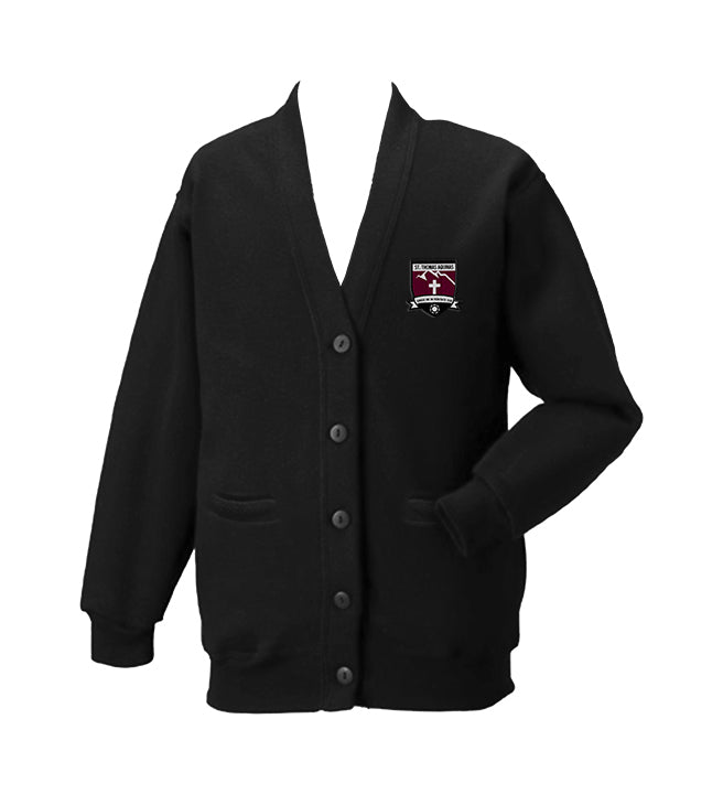 ST. THOMAS AQUINAS BLACK CARDIGAN, SIZE 44 AND UP