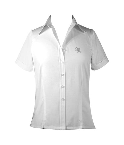 ST. THOMAS AQUINAS LADIES BLOUSE, SHORT SLEEVE