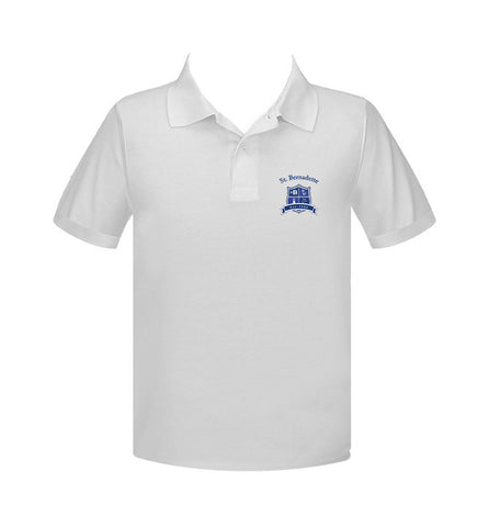 ST. BERNADETTE GOLF SHIRT, UNISEX, SHORT SLEEVE, ADULT