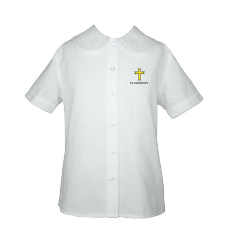 ST. CATHERINE'S PETERPAN BLOUSE, SHORT SLEEVE