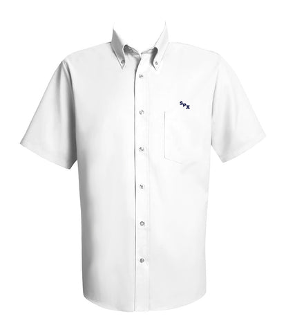 ST. PIUS DRESS SHIRT, SHORT SLEEVE, MENS