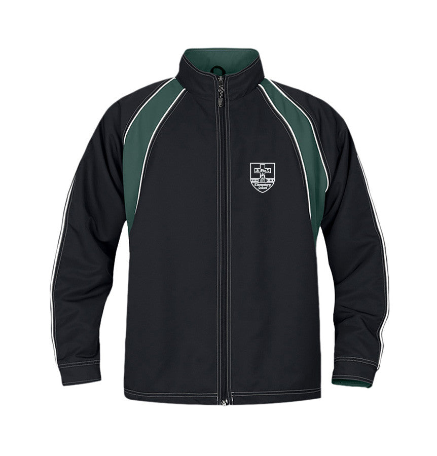 ST. PIUS TRACK JACKET, TWILL, YOUTH