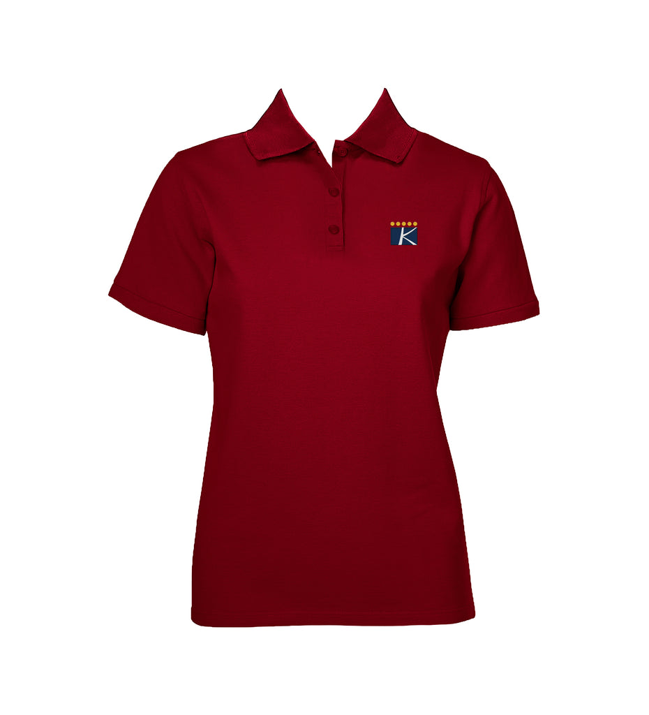 THE KING'S SCHOOL GOLF SHIRT, GIRLS, SHORT SLEEVE, ADULT