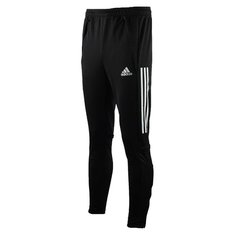 BLACK TRACK PANTS, POLYESTER DOUBLE KNIT, ADULT