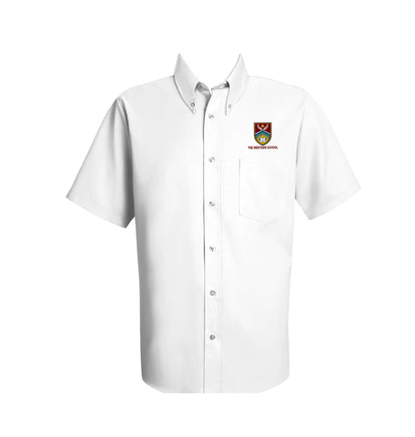 THE WESTSIDE SCHOOLS DRESS SHIRT, SHORT SLEEVE, MENS