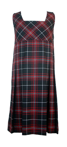 TARTAN TUNIC, STANDARD FRONT PLEATS