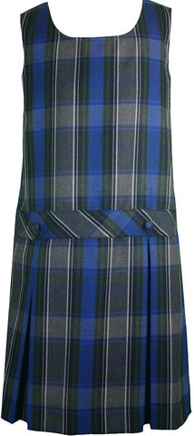 TARTAN TUNIC, DROPWAIST WITH BUTTONS