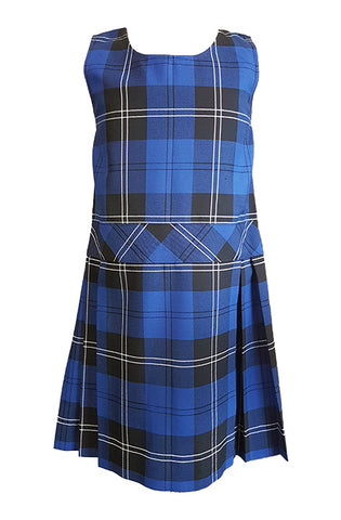 TARTAN TUNIC, FULL PLEAT DROPWAIST WITH BACK ZIPPER