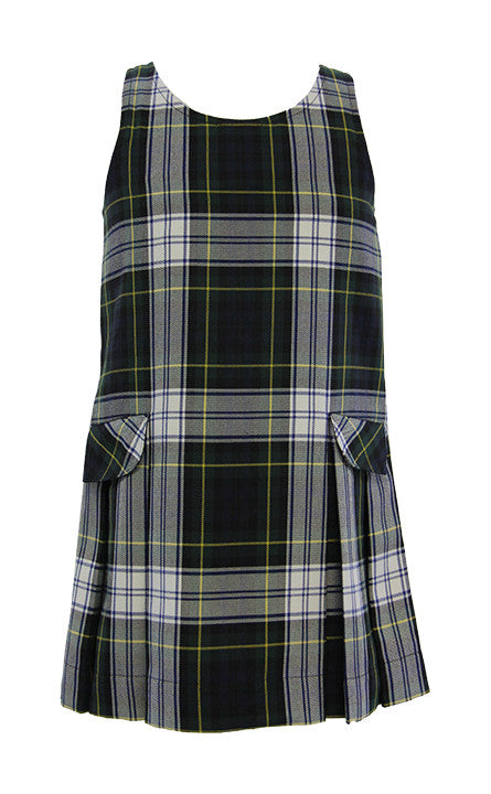 TARTAN TUNIC, DROPWAIST WITH POCKETS AND BACK ZIPPER