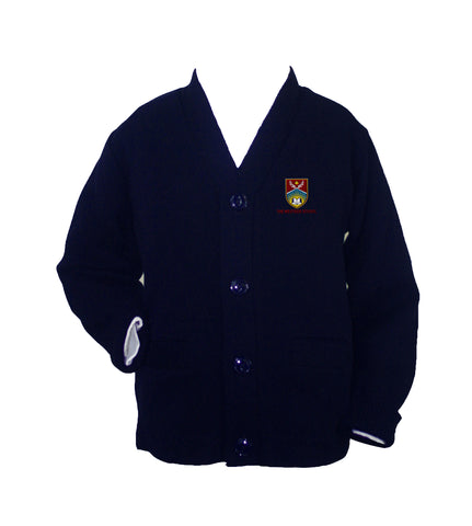 THE WESTSIDE SCHOOLS CARDIGAN, UP TO SIZE 42