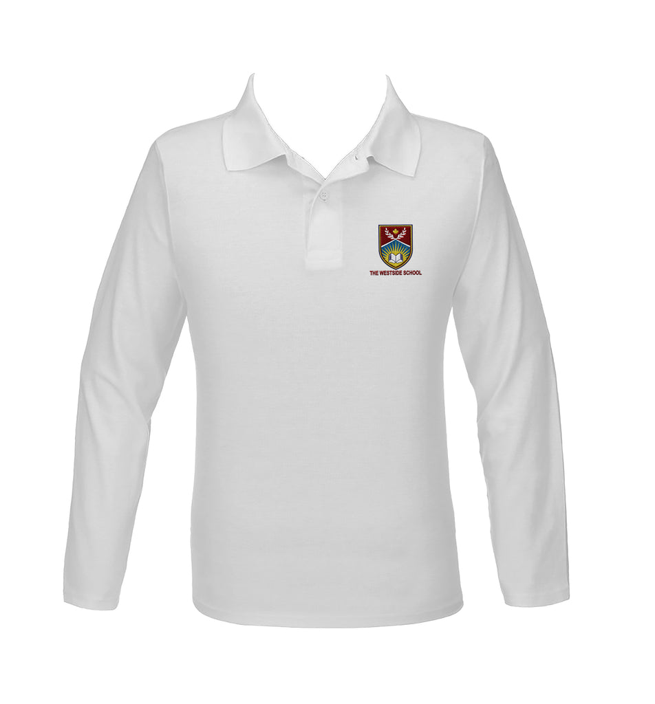 THE WESTSIDE SCHOOLS GOLF SHIRT, UNISEX, LONG SLEEVE, YOUTH