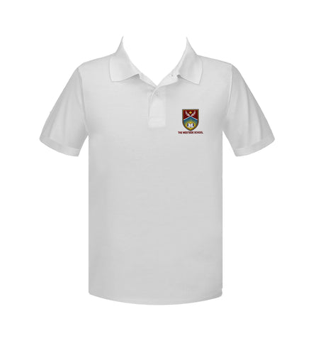THE WESTSIDE SCHOOLS GOLF SHIRT, UNISEX, SHORT SLEEVE, ADULT