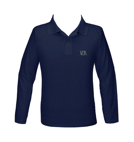 VANCOUVER HEBREW ACADEMY GOLF SHIRT, UNISEX, LONG SLEEVE, YOUTH