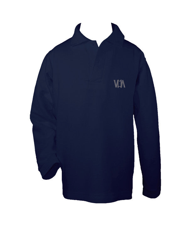 VANCOUVER HEBREW ACADEMY GOLF SHIRT, UNISEX, LONG SLEEVE, CHILD