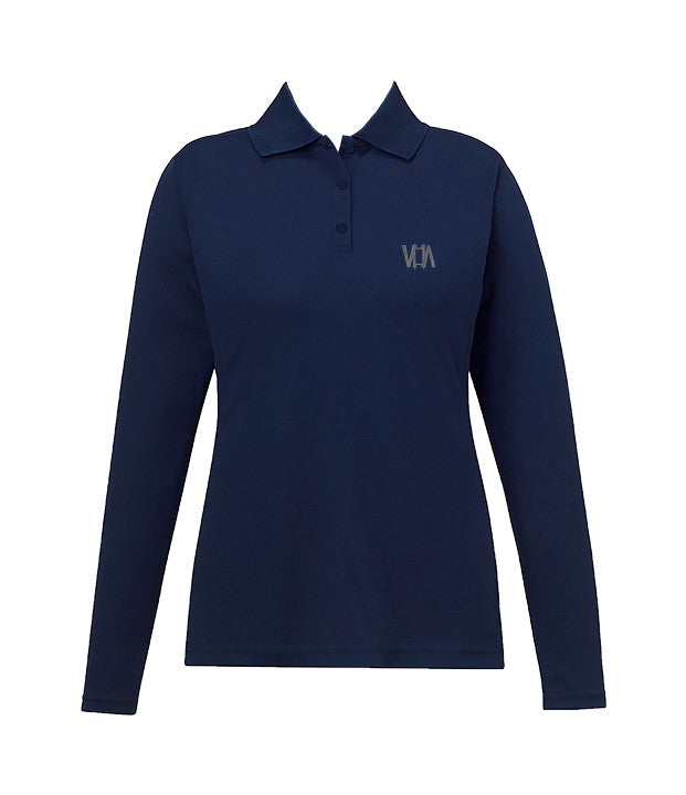 VANCOUVER HEBREW ACADEMY GOLF SHIRT, GIRLS, LONG SLEEVE, YOUTH