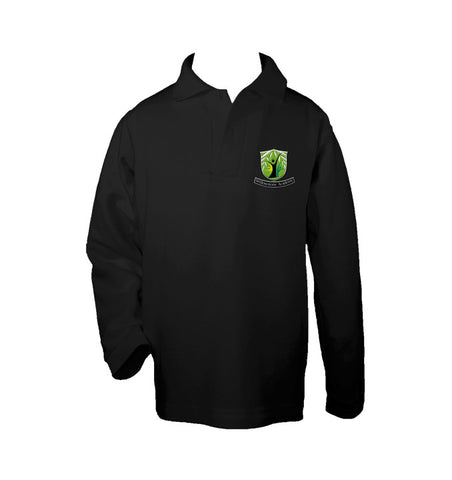 WILLOWSTONE ACADEMY BLACK GOLF SHIRT, UNISEX, LONG SLEEVE, CHILD