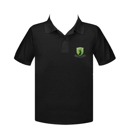 WILLOWSTONE ACADEMY BLACK GOLF SHIRT, UNISEX, SHORT SLEEVE, YOUTH