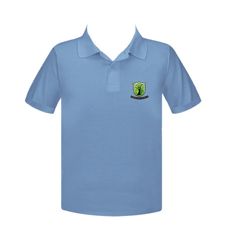 WILLOWSTONE ACADEMY LIGHT BLUE GOLF SHIRT, UNISEX, SHORT SLEEVE, ADULT