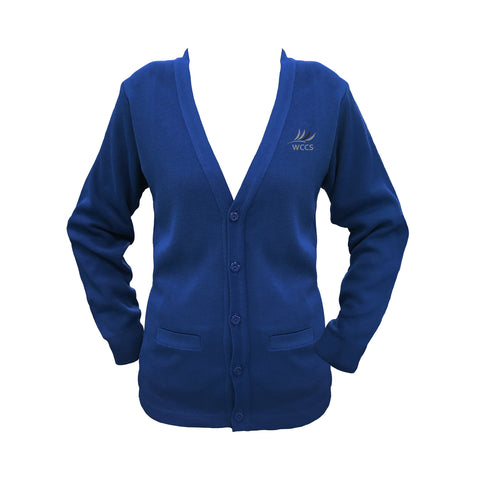 WEST COAST ROYAL BLUE CARDIGAN, UP TO SIZE 42