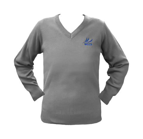 WEST COAST LIGHT GREY PULLOVER, UP TO SIZE 42
