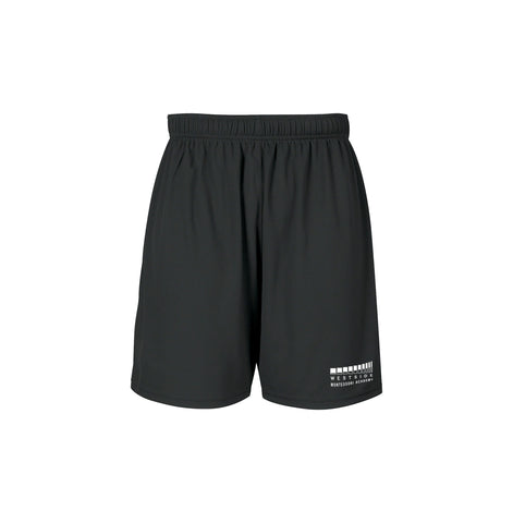 WESTSIDE MONTESSORI GYM SHORTS, WICKING, ADULT