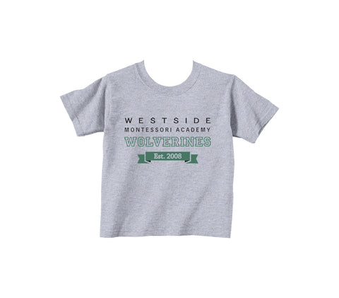 WESTSIDE MONTESSORI GYM T-SHIRT, COTTON, TODDLER