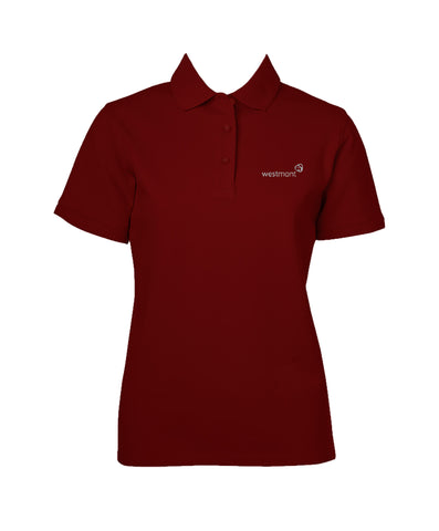 WESTMONT RUBY RED GOLF SHIRT, GIRLS, SHORT SLEEVE, ADULT