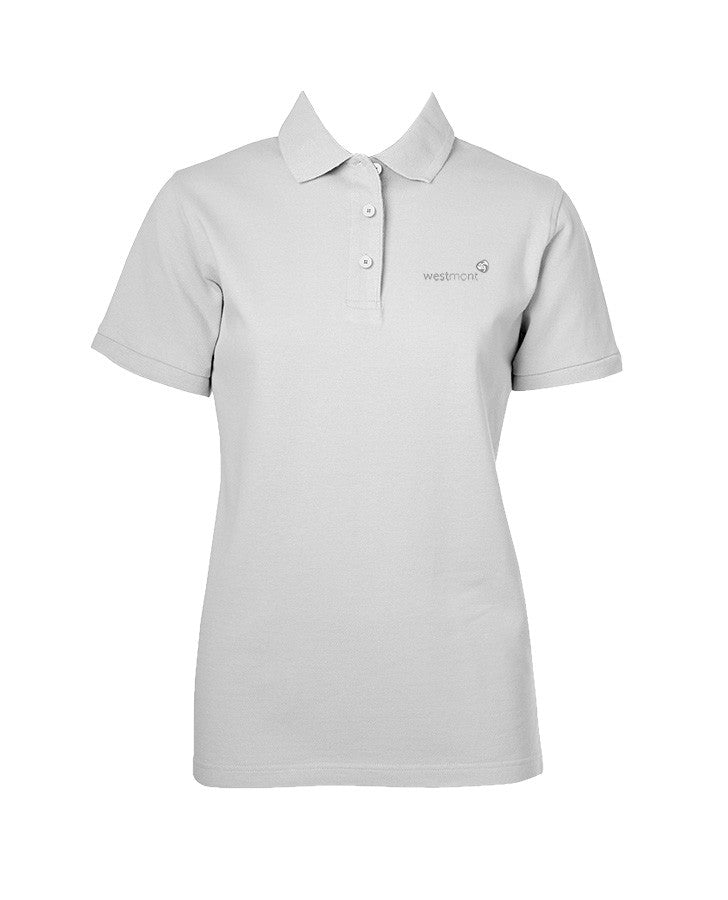 WESTMONT WHITE GOLF SHIRT, GIRLS, SHORT SLEEVE, YOUTH