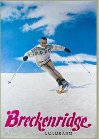 Vintage Breckenridge Ski Poster - Signed by Trygve Berge