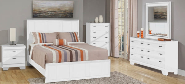 462 SERIES - 6PC SET WHITE FROST QUEEN BEDROOM SUITE