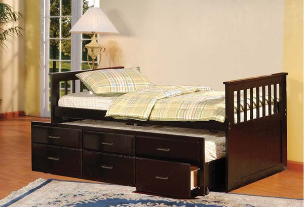 BRADY - CAPTAIN'S BED WITH TRUNDLE & DRAWERS