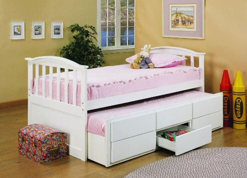 SELENA - CAPTAIN BED WITH TRUNDLE BED AND DRAWERS