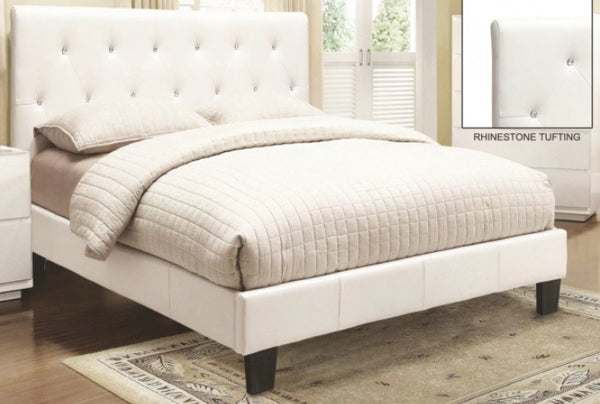 GLITZ QUEEN PLATFORM BED WITH RHINESTONES