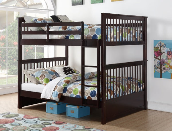 SONYA - WOODEN DOUBLE / DOUBLE BUNK BED FRAME IN ESPRESSO OR WHITE