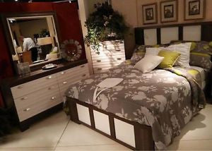 559 SERIES - SIENNA BEDROOM SUITE IN 2 TONE