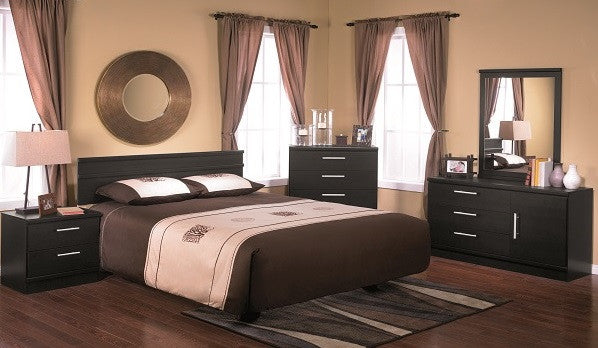 5 PC EBONY BEDROOM SUITE