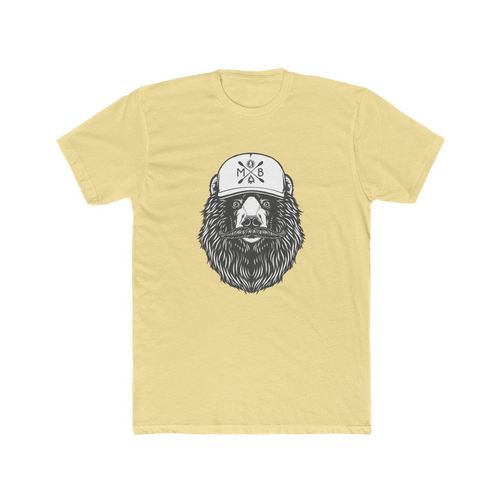 Bear'd Men's Cotton Crew Tee