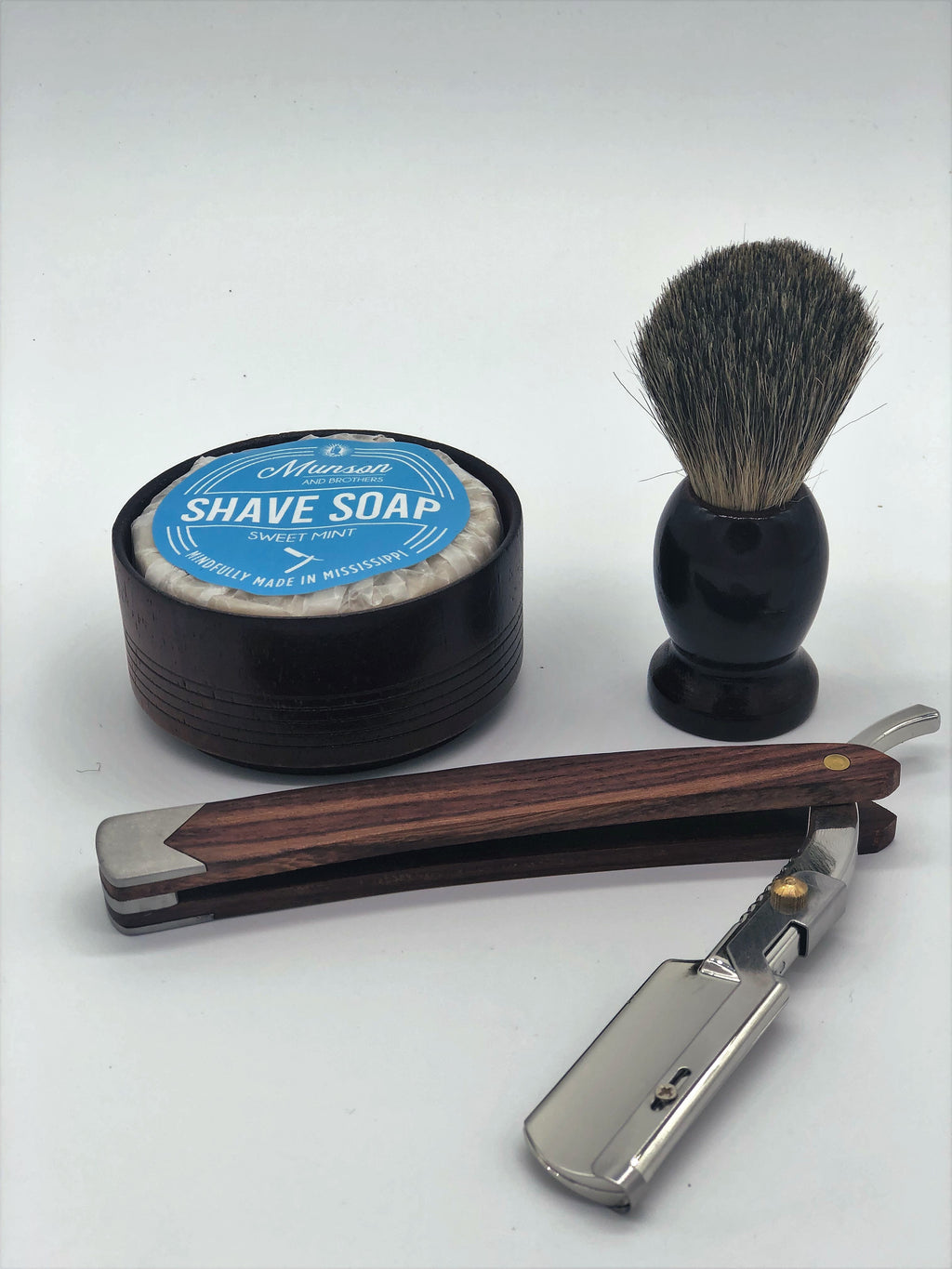 Full Shave set with w/Straight Razor
