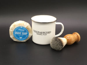 Camping Mug Shave Set - beard soap, mug and brush