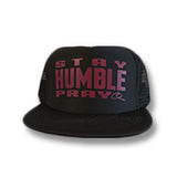 Black Trucker Hat Flat Bill