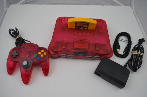 Watermelon Red Nintendo 64 N64 Ultra HDMI Retroactive 1.05 W/Expansion Pak