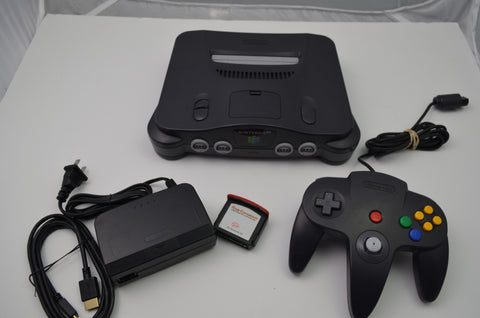 Nintendo 64 N64 Charcoal Grey Ultra HDMI Retroactive 1.05 W Expansion Pak RGB MOD and LED Mod