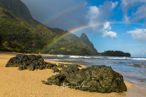 Tunnels Beach Rainbow  ~ Fine Art Prints